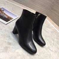 China Women black leather boots casual ladies winter shoes genuine leather upper material 2018 winter fashion leather boots on sale