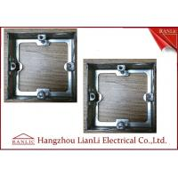Wholesale Steel Electrical Gang Box Extension Ring With Adjustable Ear 20mm 25mm Knockouts from china suppliers