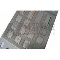 Wholesale Outdoor ATM Number Pad , Stainless Steel Keypad With Etched And Colored Graphics from china suppliers