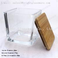 Wholesale Square wooden/ bamboo lid of glass container from china suppliers