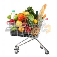 Wholesale Unfolding Colored Supermarket Shopping Trolley Baskets from china suppliers