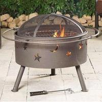 Quality Outdoor Fire Pit, Lid with Black Powder Coating for sale