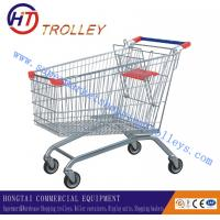 Wholesale Rolling 100L  Zinc Plated Metal Steel Shopping Trolley European Style from china suppliers
