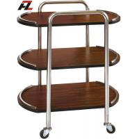 Wholesale Mobile Walnut Hotel Food Service Trolley-Serving Trolley from china suppliers