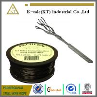 Wholesale hot sale in usa 0.9-2mm PA/PVC/Nylon coated stainless steel wire rope for equipment from china suppliers