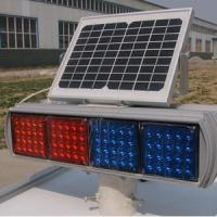 Wholesale Double Faces Solar Traffic Warning Light , Flashing LED Solar Powered Sign Lights from china suppliers