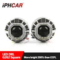 Buy cheap 12V 35W hid bulb 3.0 inch double angel eyes projector lens led angel eyes hid kit toyota angel eyes headlight from wholesalers