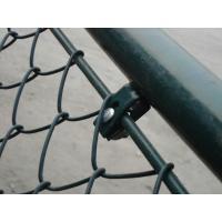 PVC Diamond Chain Link Wire Mesh , Privacy Weave Chain Link Fabric