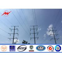 Quality polygonal or conicla high voltage Electrical Power Pole for transmission line for sale
