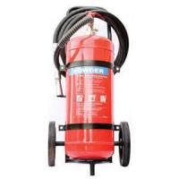 Quality Safe ABC Powder Fire Extinguisher , Hospital 50Kg Trolley Foam Fire Extinguisher for sale