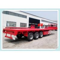 Wholesale Tri Axle Flatbed Cargo Heavy Duty Semi Trailer With 55 T Loading Capacity from china suppliers