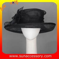 China New design elegant sinamay Church hats for girls ,trendy Sinamay wide brim church hat from Sun Accessory on sale