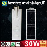 Wholesale 3000 - 3300 Lm LED Solar Street Lamps / Solar Panel For Residential Decorative from china suppliers