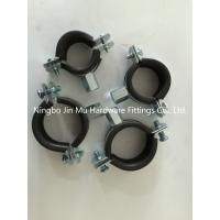 Quality 33 mm - 36 mm Diameter Galvanized Rubber Pipe Clamps 1 Inch Size FCC / SGS for sale