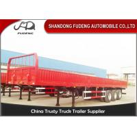 Wholesale Detachable Dual / Tri Axles Steel Stock Trailer , Open Truck Trailer With Twist Lock from china suppliers