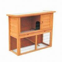 Wholesale Rabbit Hutch, Two-storey with Penning Roof, Measures 111.5 x 45 x 93cm from china suppliers