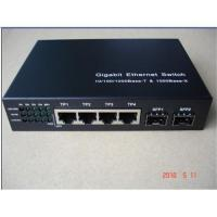 Buy cheap 6 ports Unmanaged Gigabit Ethernet Switch with two SFP ports from wholesalers