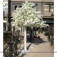Wholesale UVG CHR060 Artificial Cherry Blossom Tree for Wedding white color 13ft high from china suppliers