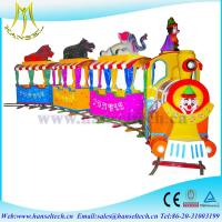 Wholesale Hansel hot fiber glass amusement park ride on toy train kids electric train kids ride on train from china suppliers
