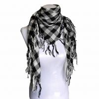 China Jacquard grid square scarf on sale