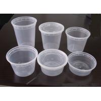 Wholesale PP Injection Disposable Plastic Food Containers , Round Soup Cups Heavier from china suppliers