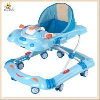 Wholesale Blue Carton Rolling Baby Walker With Wheels , Plastic Baby Walker from china suppliers