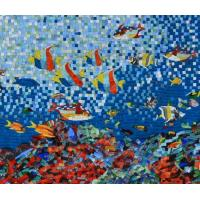 Wholesale Sea Creatures Exquisite Mosaic Tiles Designs Patterns , Large Mosaic Garden Wall Art from china suppliers
