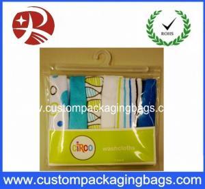 Buy cheap Super Clear Soft plastic PVC Hook Bag / Slider Zipper PVC Hanger Bag For Clothing from wholesalers