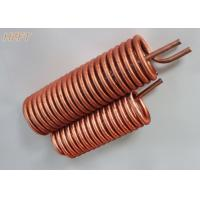 Wholesale Energy Saving Finned Copper Coil Heat exchanger For Process Coolers 0.75MM Wall Thickness from china suppliers