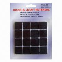 Wholesale 20mm Squre Self Adhesive Hook and Loop Velcro Glue Dots, Made of Terylene + Nylon Materials from china suppliers
