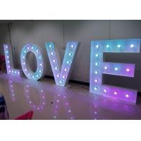 Wholesale RGB LOVE Light Up Alphabet Letters Lights , Big Letters For Wedding Decoration from china suppliers