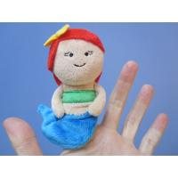 Wholesale 12cm Lovely Mermaid Plush Finger Puppets For Toddlers , Blue And Red from china suppliers