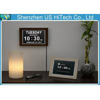 Wholesale Silver Memory Loss Wall Day And Night Clock For Dementia , 4 Alarm Options from china suppliers