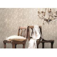 Wholesale Removable Non-woven Vintage Style Living Room Wallpaper With Geometric Pattern,Anti-static from china suppliers
