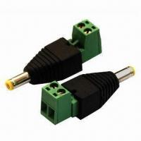 Buy cheap DC male to terminal block plug, made of copper from wholesalers