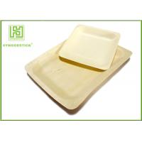 Wholesale 10'' Thanksgiving Holiday Disposable Wooden Plates Natural Barbecue / Sandwich Tray For Picnic from china suppliers
