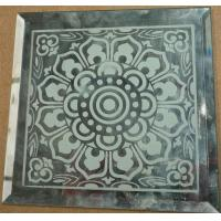 Wholesale Graven mirror decorative art mirrors flower glass from china suppliers