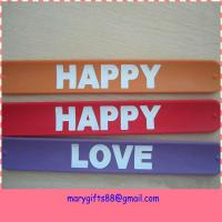 Wholesale silicone rubber snap on wristbands from china suppliers