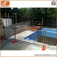 Quality Portable Event Fencing HDG Temporary Fence For Rental House / Residential for sale