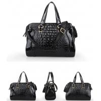 Quality American accessories patent leather crocodile pattern shoulder bags for ladies for sale