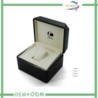 Wholesale Plastic Watch Package Boxes With Hot Stamping Logo , Leather Inside from china suppliers