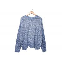 Wholesale Round Neck Womens Knit Sweater Pleuche Irregular Knitted OEM / ODM Service from china suppliers