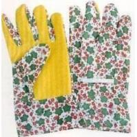 Wholesale Safety 13 gauge polyester liner with flower printing palm coated womens PU gloves from china suppliers