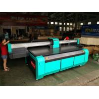Wholesale 2500*1300mm UV Flatbed Printer with Double DX7 heads for rigid flat material like glass,ceramics,PVC board,wood,metal from china suppliers