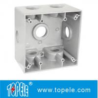 Wholesale Powder Coated 3 Holes Two Gang Weatherproof Electrical Boxes from china suppliers