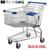 Wholesale 155L Hyper Market / Grocery Shopping Trolley With Transparent Powder Coating from china suppliers