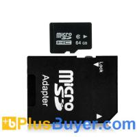 Wholesale 64GB Micro SD Card with Micro SD to SD Adapter (High Speed Class 6) from china suppliers