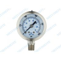 Wholesale 2.5 Inch 316 Stainless Steel Pressure Gauge / oil filled pressure gauge from china suppliers