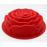 Wholesale Rose Shape Silicone Cake Moulds 178g For Cake Decoration , Baking Tool from china suppliers