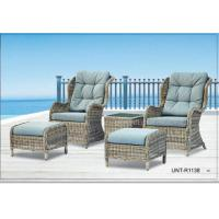 Wholesale Doube Person Outdoor Rattan Chairs Sofa Furniture With Small Seat For Feet from china suppliers